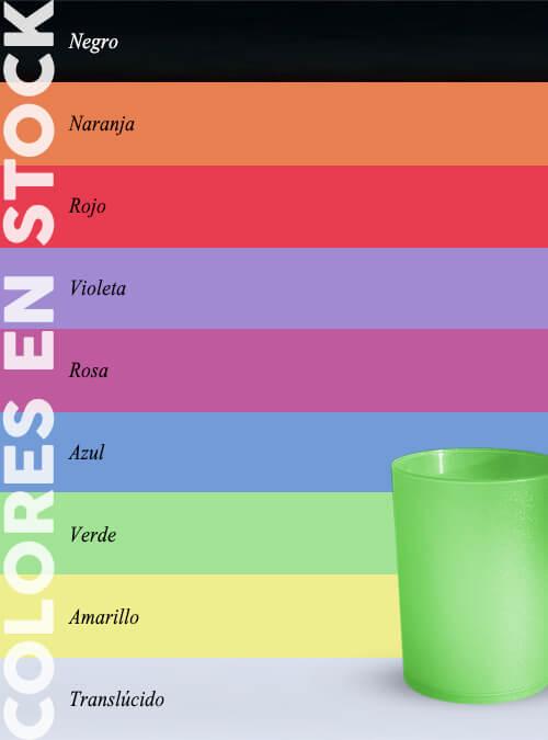 Vaso 25 ml colores