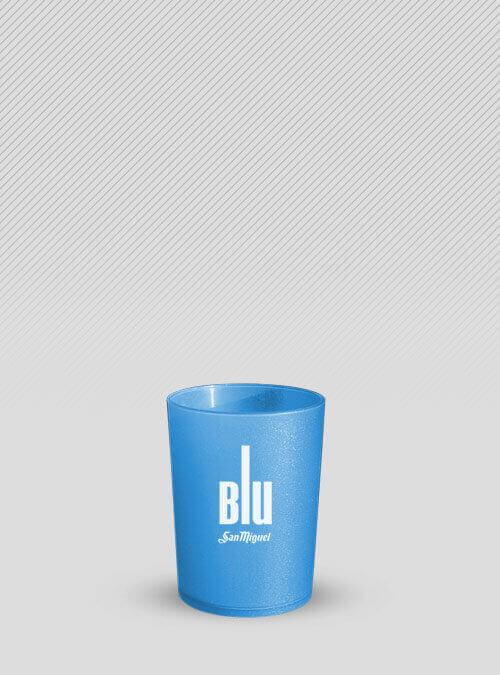 Vaso azul tinta personalizada blanca