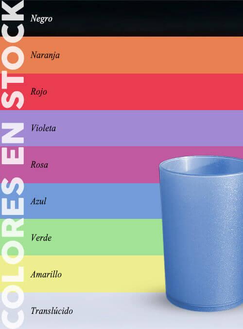 Vaso 100 ml. azul colores