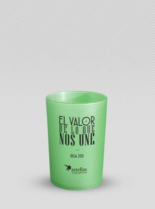 Vaso Verde personalizado negro