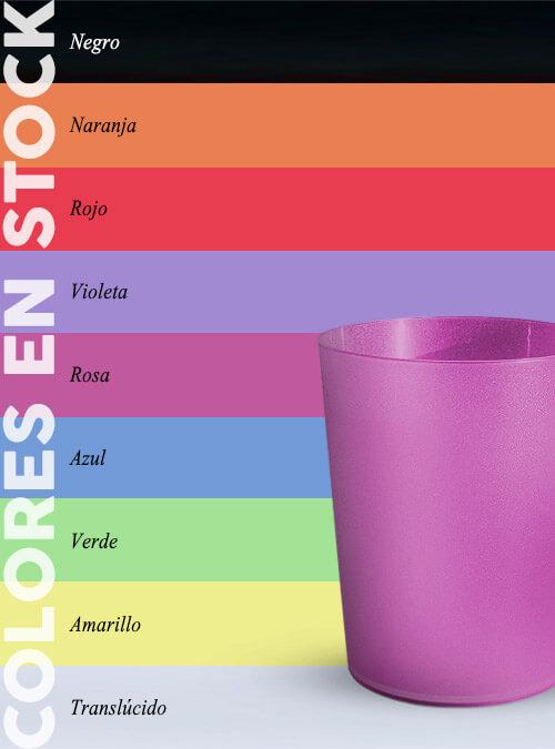 Vaso 200 ml Colores