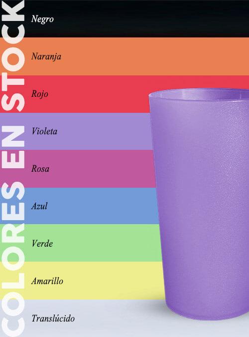 Vaso 330 ml colores
