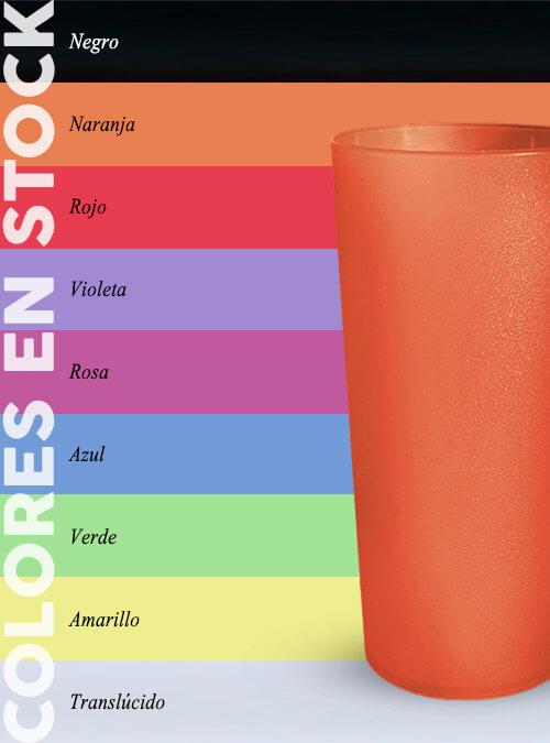 Vaso 380 ml colores